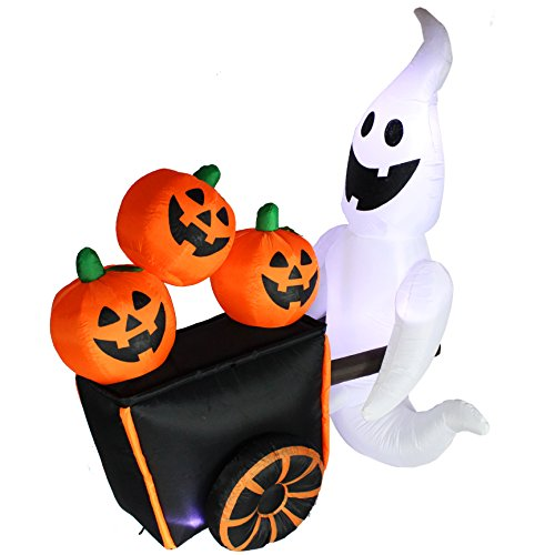 Joiedomi-Halloween-Inflatable-Blow-up-Ghost-Pushing-Cart-of-Pumpkins-6-Ft-Tall-4-Ft-Wide-0