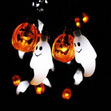 Joiedomi-Halloween-String-Light-Decoration-Solar-Powered-Ghost-and-Pumpkin-Shaped-LED-String-Light-197-Feet-Long-30-LED-WarmCool-OrangeWhite-Color-0