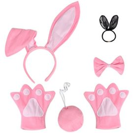 JustinCostume-Bunny-Cosplay-Set-Ears-Tail-Bowtie-Paws-Hair-Tie-0