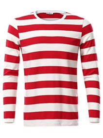 KIRA-Mens-Wheres-Waldo-Adult-Halloween-Costume-Cotton-Striped-Shirt-0