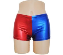 Kaguster-Womens-Faux-Leather-Cosplay-Blue-Red-shorts-Panties-Jackety-Neckalce-0