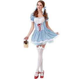 Kansas-Belle-Womens-Halloween-Costume-Sexy-Dorothy-of-Oz-Blue-Checkered-Dress-0