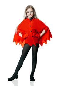 Kids-Girls-Little-Devil-Costume-Flame-Cape-Halloween-Party-Evil-Demon-Dress-Up-0