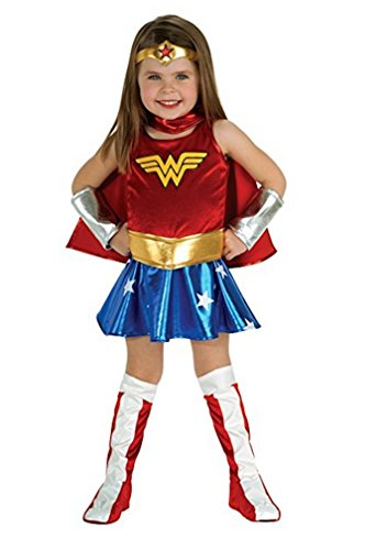 LC Boutique Girls Wonder Woman Complete Costume in sizes to fits 2 to 10 Years