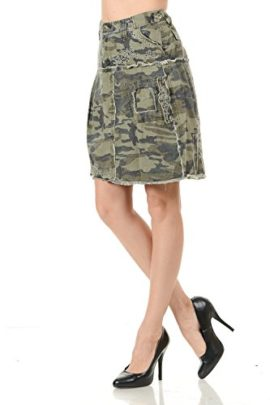 LUCY-collection-ladies-Sexy-A-line-Ruffled-Army-camo-Camouflage-jean-skirt-0-0