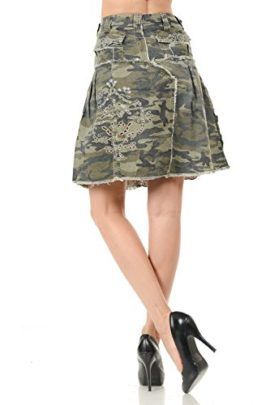 LUCY-collection-ladies-Sexy-A-line-Ruffled-Army-camo-Camouflage-jean-skirt-0-1