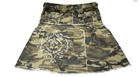 LUCY-collection-ladies-Sexy-A-line-Ruffled-Army-camo-Camouflage-jean-skirt-0-3