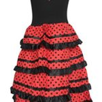 La-Senorita-Spanish-Flamenco-Dress-Costume-Girls-Kids-Black-Red-Size-4-3-4-years-black-red-0