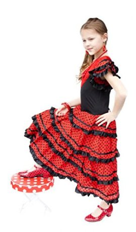La-Senorita-Spanish-Flamenco-Dress-Fancy-Dress-Costume-Girls-Kids-Black-Red-0-5
