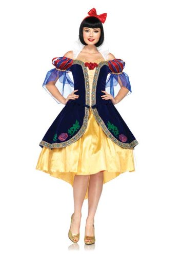 Leg Avenue Costumes 3Pc.Deluxe Snow White Includes Dress, Back Bow and Headband