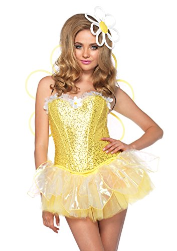 Leg Avenue Costumes 4Pc.Daisy Doll Includes Corset Tutu Wings Headpiece with Led