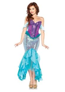 Leg-Avenue-Costumes-Disney-3-Pc-Deluxe-Ariel-Includes-Corset-Straps-and-Skirt-0