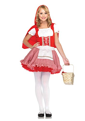 Leg Avenue Junior's 2 Piece Red Hiding Hood Costume