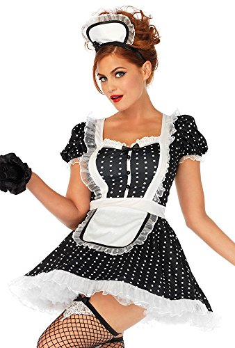 Leg Avenue Womens 2 Pc Sexy French Maid Costume