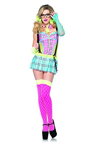 Leg Avenue Women's 2 Piece Day Glow School Girl