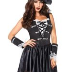 Leg-Avenue-Womens-3-Piece-Captain-Black-Heart-Pirate-Costume-BlackWhite-SmallMedium-0