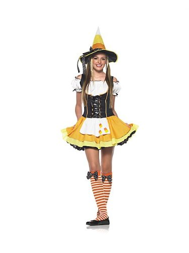 Leg Avenue Women's 3 Piece Kute Kandy Korn Witch Dress