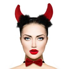 Lux-Accessories-Red-Fluffy-Devil-Ears-Stretch-Headband-Sexy-Bowtie-Bendable-Tail-Halloween-Holloween-Costume-0