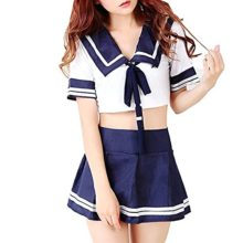 MEshop-Plus-Size-Sexy-Schoolgirl-Lingerie-Set-Sailor-Uniform-Dress-Cosplay-Costumes-0