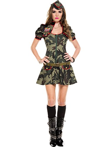 MUSIC LEGS Women's Sexy Army Brat