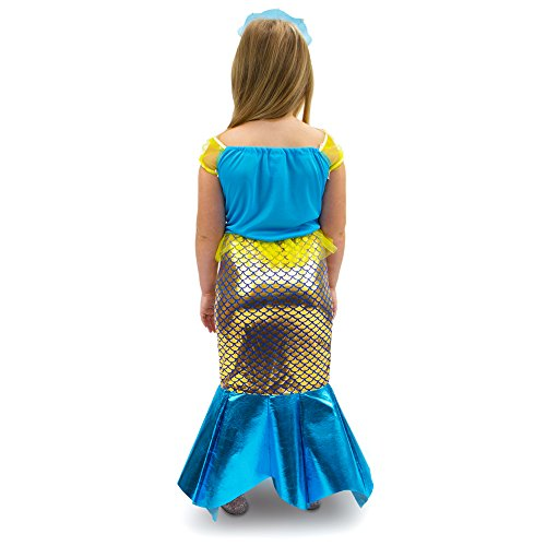 Magnificent-Little-Mermaid-Girls-Halloween-Costume-Dress-Up-  sc 1 st  Halloween Costumes Best & Magnificent Little Mermaid Girls Halloween Costume Dress Up Party ...