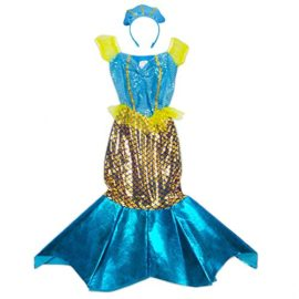 Magnificent-Little-Mermaid-Girls-Halloween-Costume-Dress-Up-Party-Cosplay-0-2