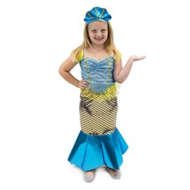 Magnificent-Little-Mermaid-Girls-Halloween-Costume-Dress-Up-Party-Cosplay-0