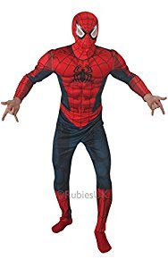 MenS-Deluxe-Spiderman-Padded-Chest-Suit-Fancy-Dress-Costume-0