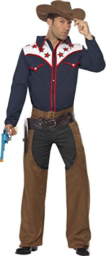 Men's Rodeo Cowboy Costume Outfit Adult Fancy Dress Party Outfit