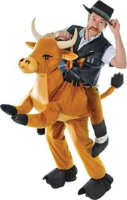 Mens-Western-Rodeo-Rider-Cowboy-Fancy-Dress-Outfit-Step-In-Riding-Bull-Costume-0