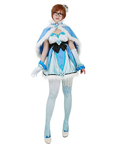 Miccostumes Women's Magical Girl Mei Cosplay Cloak Dress
