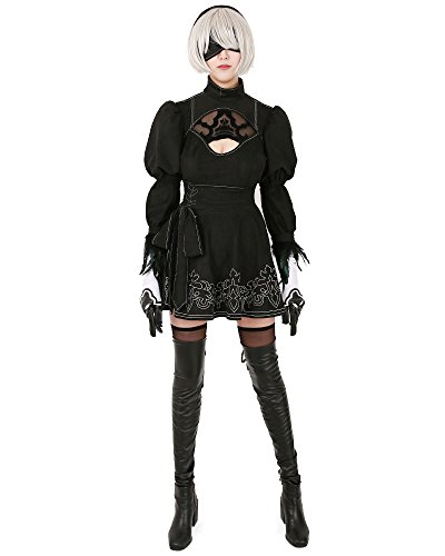 Miccostumes-Womens-No-2-Type-B-Cosplay-Leotard-Skirt-with-Mask-Hairband-Leggings-0-0