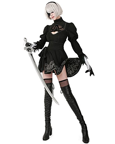 Miccostumes-Womens-No-2-Type-B-Cosplay-Leotard-Skirt-with-Mask-Hairband-Leggings-0