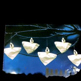 Mini-Hanging-Ghost-Halloween-Decorations-8-Inches-Set-of-10-0