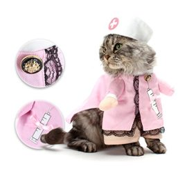 NACOCO-Dog-Cat-Nurse-Costume-Pet-Nurse-Clothing-Halloween-Jeans-Outfit-Apparel-0-0