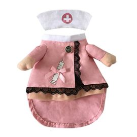 NACOCO-Dog-Cat-Nurse-Costume-Pet-Nurse-Clothing-Halloween-Jeans-Outfit-Apparel-0-2