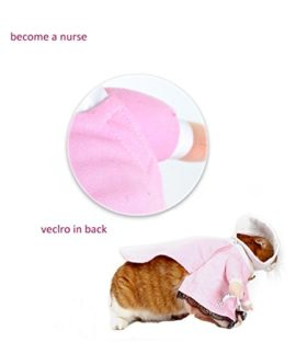 NACOCO-Dog-Cat-Nurse-Costume-Pet-Nurse-Clothing-Halloween-Jeans-Outfit-Apparel-0-4