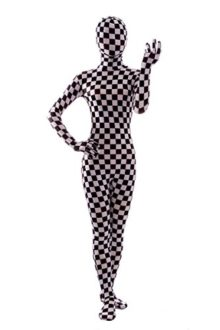 Nedal-Checkered-Bodysuit-Costume-for-Women-Halloween-Onesie-Lycra-Zentai-0