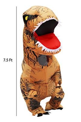New-VersionHalloween-Adult-Inflatable-T-Rex-Dinosaur-Party-Costume-Funny-Dress-with-Backpack-USB-Wire-0-0