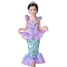 Newland-Girls-Kids-Little-Mermaid-Princess-Party-Dress-Costume-0