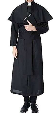 Nun-Friar-Priest-Monk-Robe-Missionary-Christian-Church-Halloween-Cosplay-Costume-0
