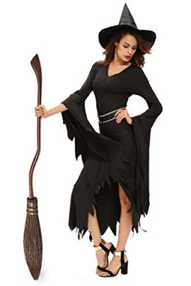 NuoReel-Womens-All-Black-Gothic-Witch-Halloween-Costume-0-0