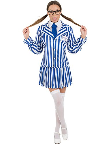 Orion Costumes Womens Cheap Budget Value Basic School Girl Fancy Dress Costume