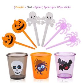 PBPBOX-72-Pack-Halloween-Food-Picks-6-Cups-Cupcake-Toppers-with-Glitter-Spider-Pumpkin-Skull-Design-for-Halloween-Party-Supplies-Halloween-Party-Decorations-0-0