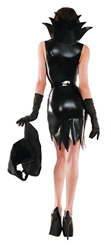 Party-King-Womens-Liquid-Black-Sexy-Witch-3-Piece-Costume-Set-0-0