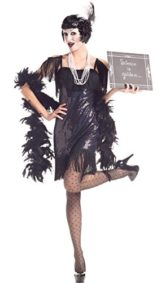 Party-King-Womens-Silent-Movie-Flapper-5-Piece-Costume-Set-0