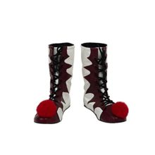 Pennywise-Shoes-Cosplay-It-Costume-Halloween-Boots-Red-White-Props-Accessories-0
