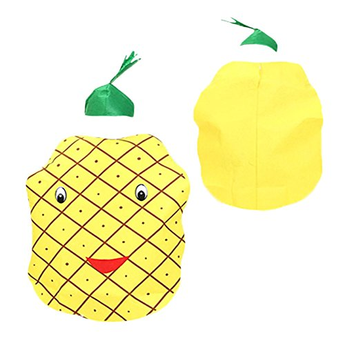 Petitebella Yellow Pineapple Costume Set Party Wear Unisex Adult Clothing