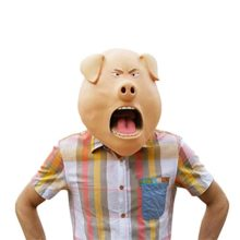 Pig-Mask-Latex-Realistic-Funny-Halloween-Animal-Costume-Cosplay-Headgear-0