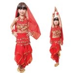 Pilot-trade-Children-Belly-Dance-Costume-Harem-Pants-Halter-Top-Veil-Bracelet-0-0